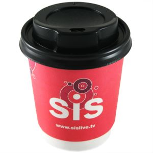 Promotional 8oz Double Wall Paper Cups with logos