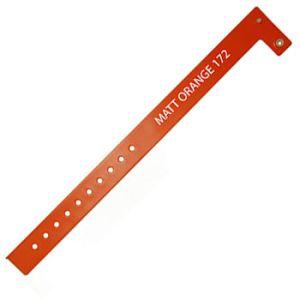 Vinyl ID Wristbands in Matt Orange
