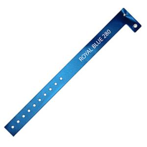 Vinyl ID Wristbands in Royal Blue
