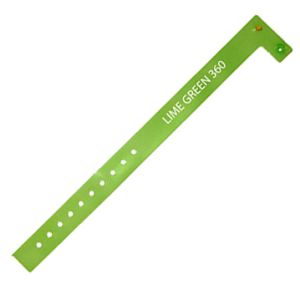 Vinyl ID Wristbands in Lime Green