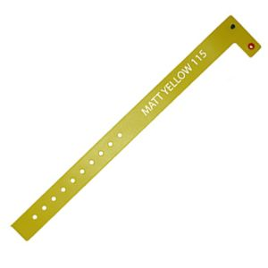 Vinyl ID Wristbands in Matt Yellow
