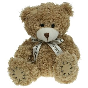18cm Paw Teddy Bears in Mocha