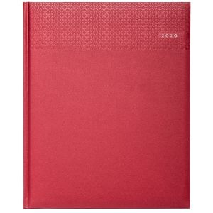 Corporate branded Week to view diaries for executive marketing Ruby Red