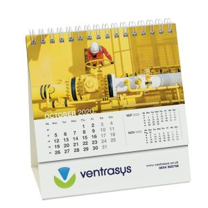 Desk Easel Calendars in White