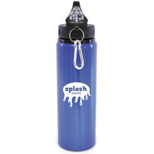 Promotional sports bottles engraved with designs Blue