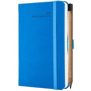 Ivory Tucson Pocket Weekly Diary with Pencil in French Blue