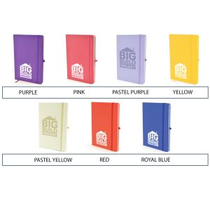 Corporate branded notebooks in a choice of colours to suit any company logo