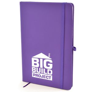 Promotional A5 notebooks printed with logo
