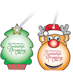 We have 4 different shapes available, with each promising to add some festive cheer to your marketing!