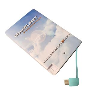Printed Express 2500mAh Card Power Banks for charging phones