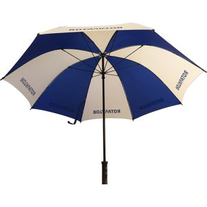 Custom printed Value Fibrestorm Golf Umbrella for promotional giveaways