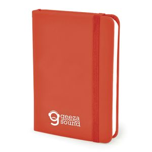 A7 Soft Touch PU Notebooks in Red