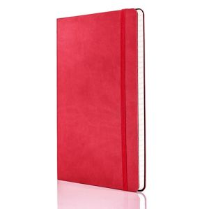 Tucson Flexible Ruled Medium Notebooks in Coral Red