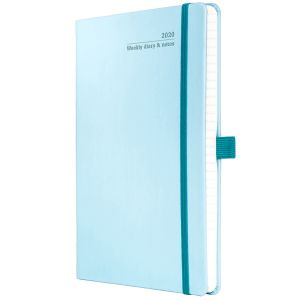 Promotional Full Colour Ivory Tucson Medium Weekly Diary in Blue Curacao