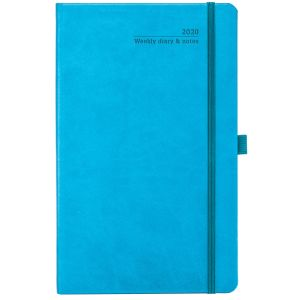 Branded diaries for desks colours in Bright Blue