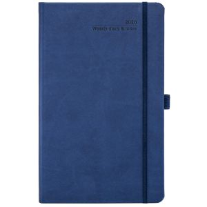 Promotional weekly view diaries for executive giveaways in China Blue