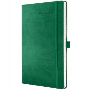 Full Colour Ivory Tucson Medium Weekly Diary in Forest Green