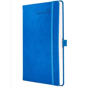 Full Colour Ivory Tucson Medium Weekly Diary in French Blue