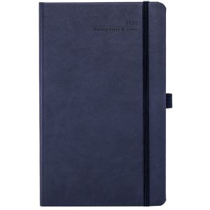 Full Colour Ivory Tucson Medium Weekly Diary in Navy