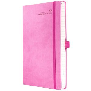 Full Colour Ivory Tucson Medium Weekly Diary in Pink