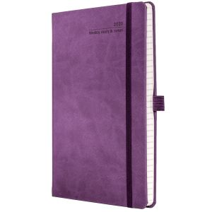 Full Colour Ivory Tucson Medium Weekly Diary in Purple