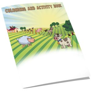 A4 4 Side Colouring Booklets