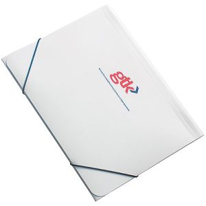 A4 Elasticated Folders in White