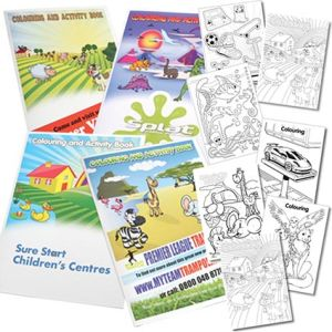 Printed colouring book for marketing campaigns