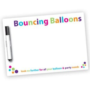 Personalised A5 Dry Wipe Magnets with Pen
