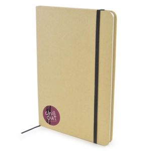 A5 Natural Recycled Notebooks in Natural/Black