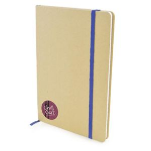 A5 Natural Recycled Notebooks in Natural/Blue