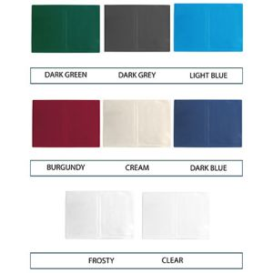 Colours available for our A5 document wallets
