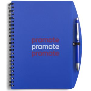 Promotional A5 Plastic Cover Notebooks for Campaign Logos