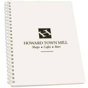 Company notebooks printed with business logo