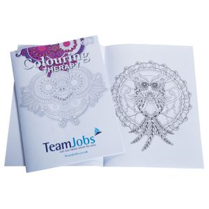Promotional 12 Page Stress Relief Colouring Books for giveaways