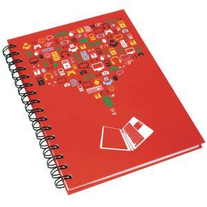 A5 Wirobound Hardback Notebooks