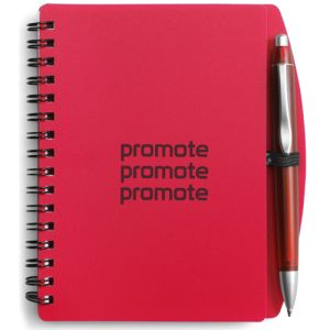 Promotional A6 Plastic Cover Notebooks for Business Gifts
