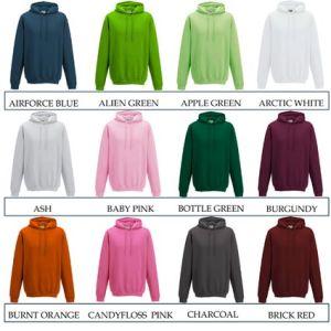 Custom branded hoodies for festivals colours