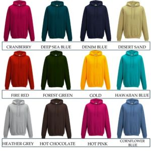 Corporate printed hoodies for merchandise ideas colours