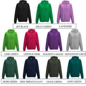 Branded hoodies for business gifts colours