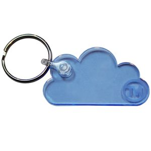Acrylic Cloud Shape Keyrings in Live Edge Blue
