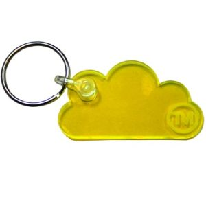 Acrylic Cloud Shape Keyrings in Live Edge Yellow