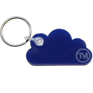 Acrylic Cloud Shape Keyrings in Blue