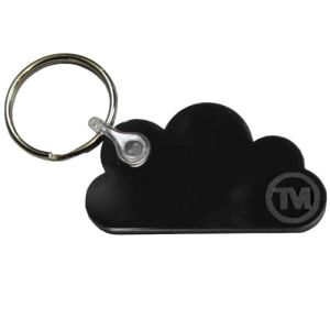 Acrylic Cloud Shape Keyrings in Black