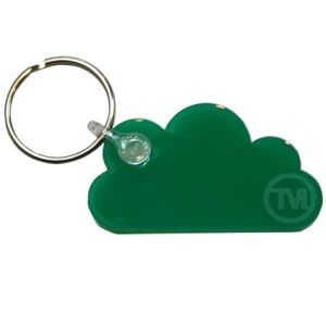 Acrylic Cloud Shape Keyrings in Green