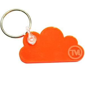 Acrylic Cloud Shape Keyrings in Orange