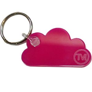 Acrylic Cloud Shape Keyrings in Pink