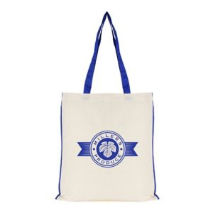 Promotional Branded 7oz Colour Trim Shopper Bag for events
