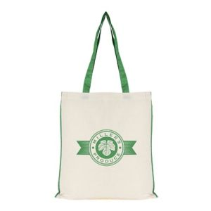 Logo Printed 7oz Colour Trim Shopper Bag for merchandise gifts