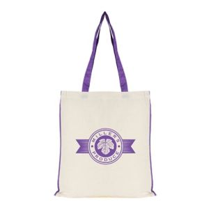Logo Branded 7oz Colour Trim Shopper Bag for company events
